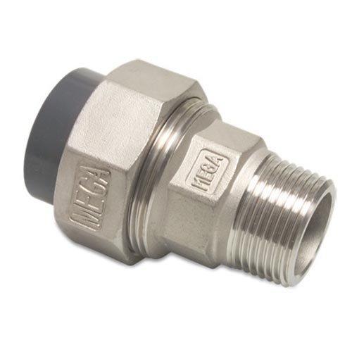 """Overgangs koppeling RVS naar PVC - 50 mm - 1½"""" buitendr."""