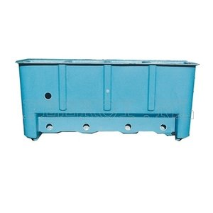 Poly visbak filter blauw 150 cm