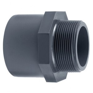 "Effast PVC Puntstuk 50 mm x 63 mm x 1"" buitendraad"