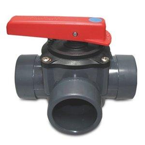 PVC 3-weg Aansluitkraan  50-63 mm