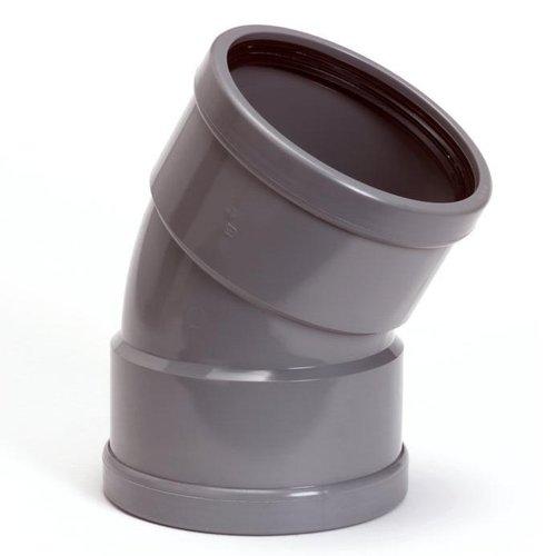PVC Bocht Afvoer 30º 110 mm 2 x Manchet