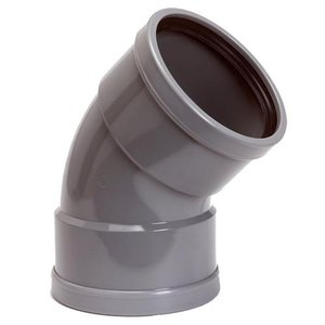 PVC Bocht Afvoer 45º 110 mm 2 x Manchet
