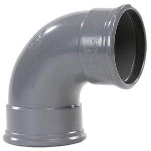 PVC Bocht Afvoer 88º 110 mm 2 x Manchet