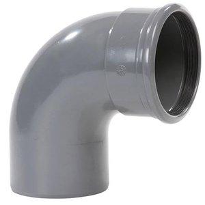 Wavin PVC Bocht Afvoer 88º 110 mm Manchet x Spie
