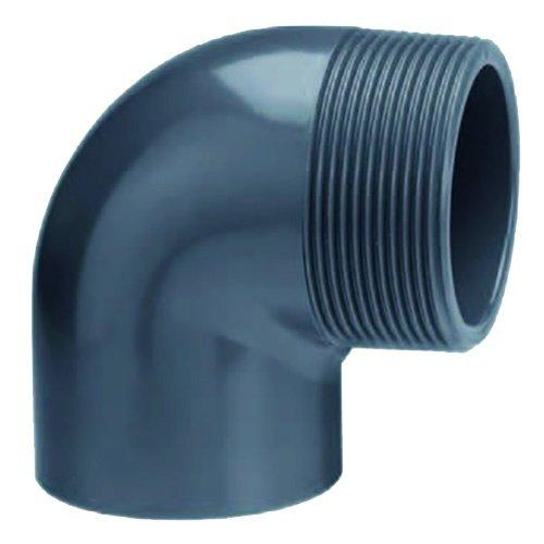 """Effast PVC Knie 90° Buitendraad 40 mm x 1 1/2"""""""