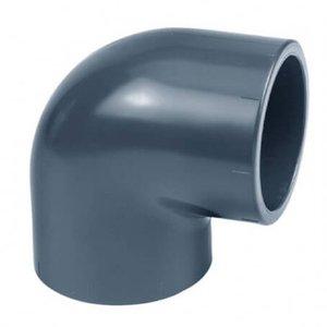 Effast PVC Knie Druk 90º 63 mm