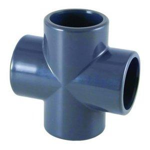 PVC Kruisstuk Druk 90° 63 mm