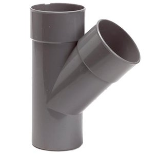 PVC T-Stuk 45º 110 mm 2 x Mof / 1 x Spie
