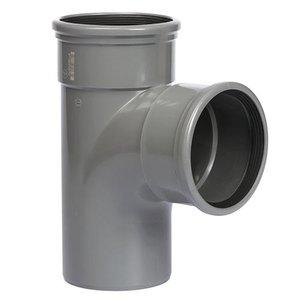 PVC T-Stuk 88º 110 mm 2 x Manchet / Spie
