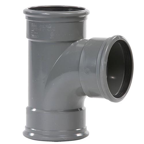PVC T-Stuk 88º 110 mm 3 x Manchet
