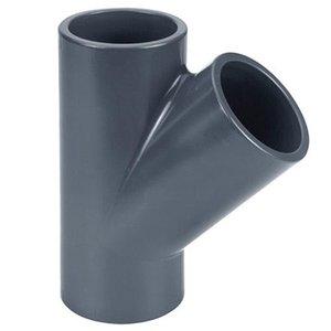Effast PVC T-stuk Druk 45° 50 mm