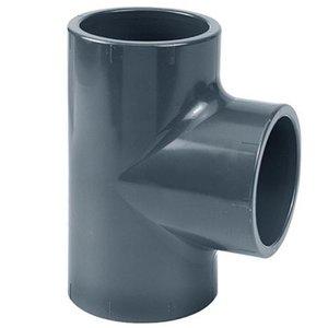 Effast PVC T-stuk Druk 90° 75 mm Effast
