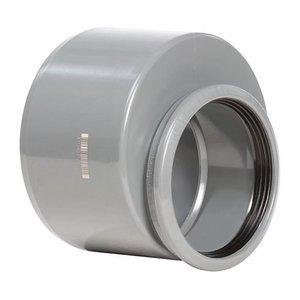 PVC Verloopstuk Excentrisch 110 mm x 125 mm Manchet x Spie