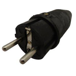 Rubber stekker met randaarde 16A 250VAC