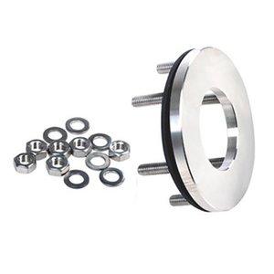 RVS Contraflens met 6 RVS ringen en moeren voor de VGE PRO Inox Dompel UV-C
