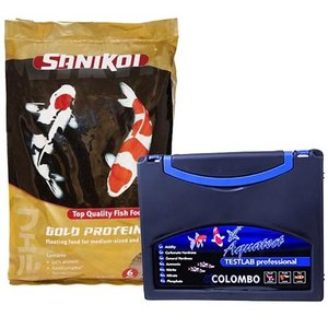 Sanikoi Sanikoi Gold Protein Plus 6 mm 20 ltr + Colombo Testab 6