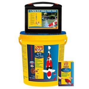 Sera Sera KOI Professional voorjaars- / herfstvoer 7 KG + Aqua Test Box + Knabbelstaven