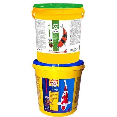 Sera Sera KOI Professional Zomervoer 7 KG en Sera Koi All Seasons Probiotic 7 KG