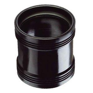 Steekmof 2 x manchet zwart 75 mm