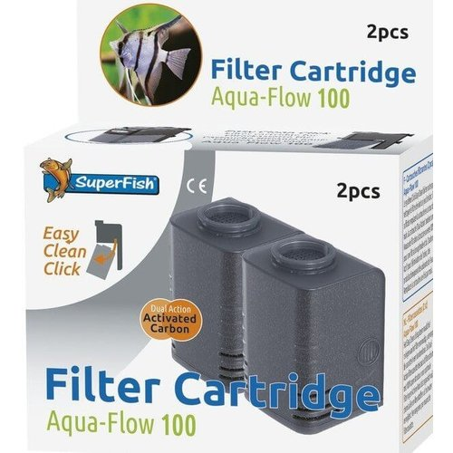 Superfish Superfish AquaFlow 100 Easy Click Cassette 2 stuks