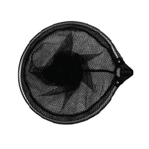 Tele schepnet zwart grofmazig ovaal 40 cm excl. telescoopsteel