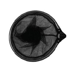Merkloos Tele schepnet zwart grofmazig rond 35 cm excl. telescoopsteel