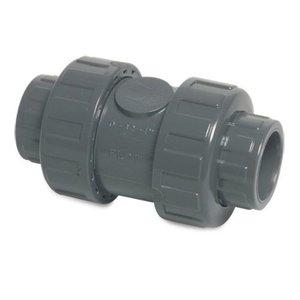 Terugslagklep PVC Veerbelast  16mm