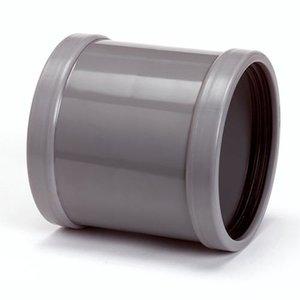 Wavin PVC Oversteekmof 2 x manchet 110 mm Wavin