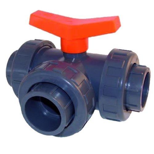 PVC Kogelkraan 3-weg T-boring 50 mm lijm