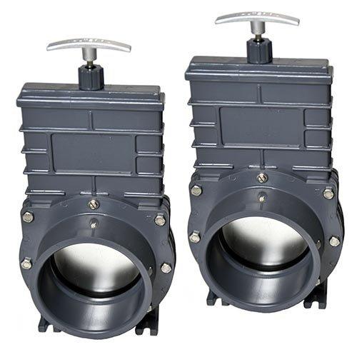 Valterra Valterra PVC Schuifkraan 110 mm met RVS Schuif, 2 stuks