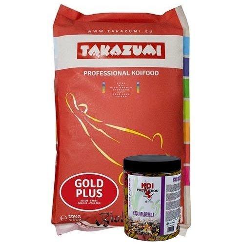 Takazumi Takazumi Gold Plus 10 KG + Koi Muesli 500 gram
