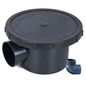 Merkloos Professionele beluchte bodemdrain 110 mm (+ Knie 25 mm)