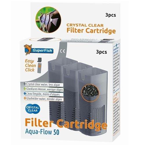 Superfish Superfish Aquaflow 50 Crystal Clear Cartridge 3 stuks