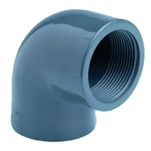 """Effast PVC Knie Druk 90° 2 x Binnendraad 3"""""""