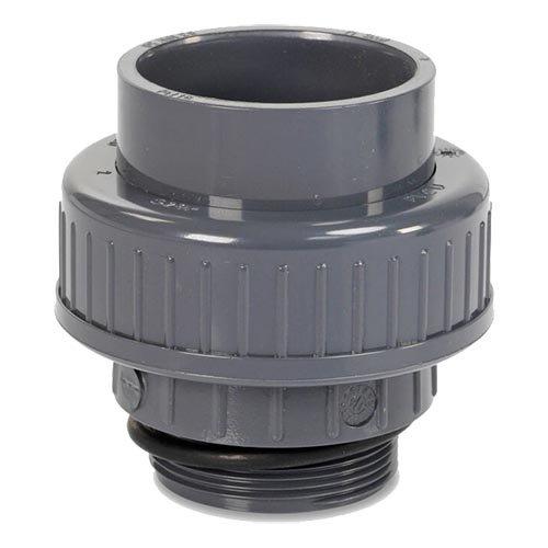 "PVC 3/3 koppeling 50mm x 1½"" buitendraad"