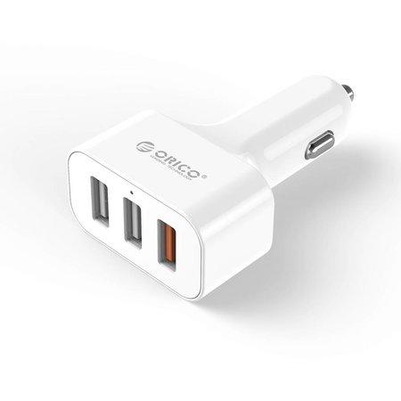 Orico  Auto oplader met 3 poorten - Quick Charge 2.0