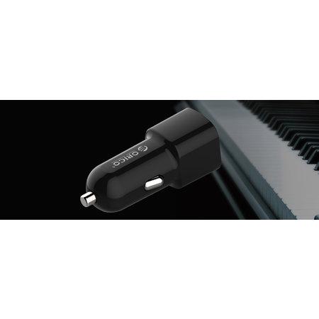 Orico  2 poort USB autolader 12V/24V 3.4A max 17W met Intelligent IC – zwart