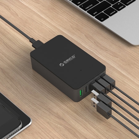 Orico  USB thuislader met 5 poorten - Quick Charge 2.0 / Smart IC - 8A / zwart