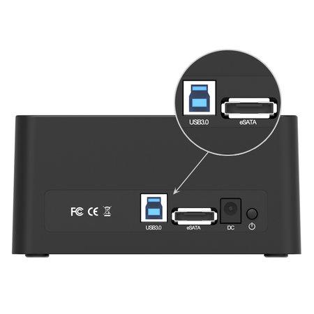 Orico  Orico USB 3.0 SATA Docking Station voor 2.5 en 3.5 Inch harde schijven