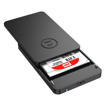 Orico  Harde Schijf Behuizing 2,5 inch - HDD/SSD - USB3.0 - 5Gbps - UASP - ABS Kunststof - Zwart