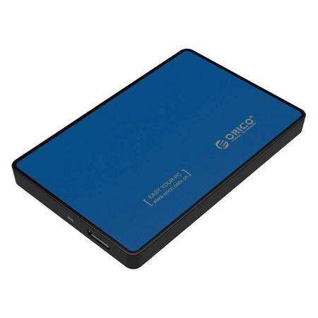 Orico  Harde Schijf Behuizing 2,5 inch - HDD/SSD - USB3.0 - Metaal & Kunststof - Blauw