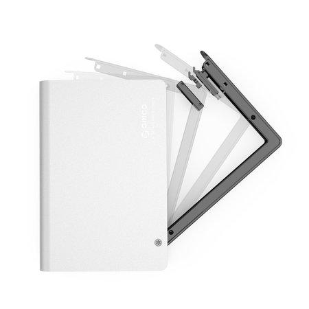 Orico  Aluminium 2.5 inch harde schijf behuizing - SATA I, II, III - HDD/SSD - 5Gbps - Incl. Datakabel - Mac Style - Zilver