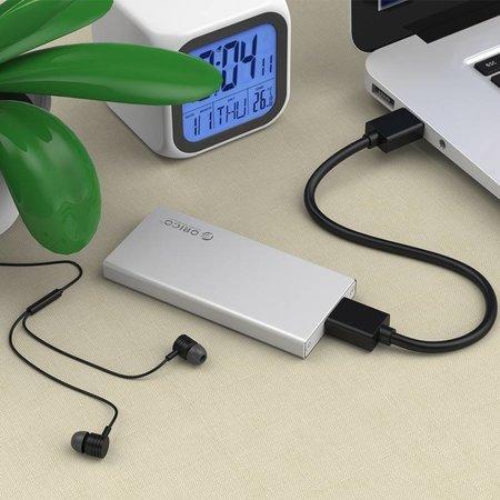 Orico  Harde Schijf behuizing USB 3.0 / Aluminium / M-SATA / SSD / Micro-B / Schroeven / Zilver