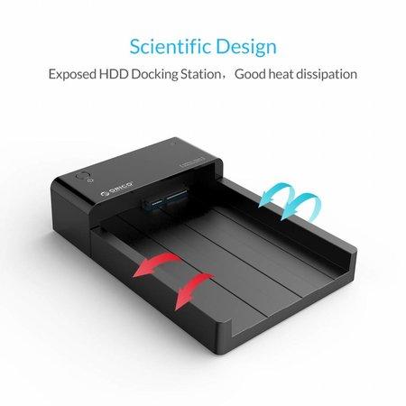 Orico  USB 3.0 Harde Schijf Docking Station voor 2.5 en 3.5 Inch naar SATA HDD en SSD Schijven