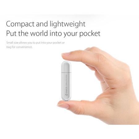 Orico  USB3.0 Kaartlezer voor TF & SD Geheugenkaarten - OTG-functie - 5Gbps - Wit