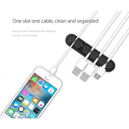 Orico  Zelfklevende kabelhouders 5 stuks - Diverse kleuren kabels tot 5mm dik