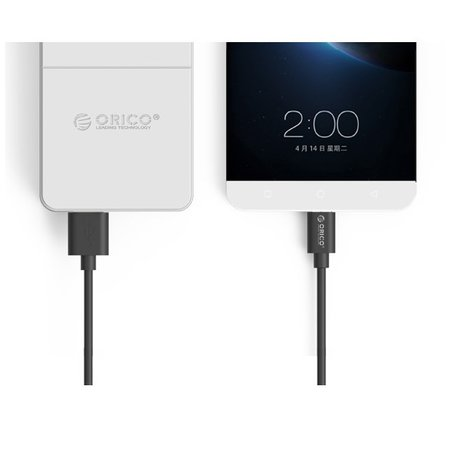 Orico  USB-C laadkabel – 1M – 2A Fast Charge - Zwart  Orico USB-C laadkabel – 1M – 2A Fast Charge - Zwart