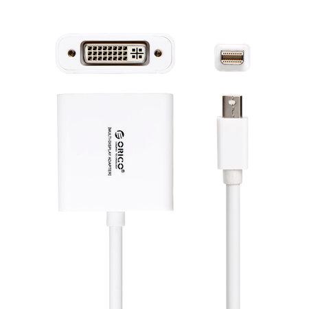 Orico  Mini Displaypoort naar DVI Adapter - 1080P - Voor MacBook, MacBook Pro en MacBook Air - Gold-Plated - 17CM Kabel - Wit