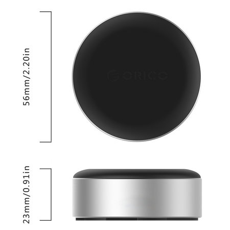 Orico  Aluminium Laptophouders / Laptopverhoger - Betere kijkhoek - Goede warmteafvoer - Zwart/Zilver