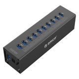 Orico  10 Poort USB 3.0 HUB met 12V stroom adapter